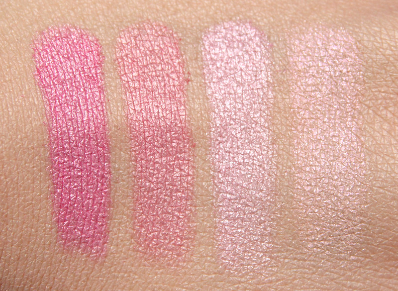 The Body Shop 26 pink shimmer cubes swatch