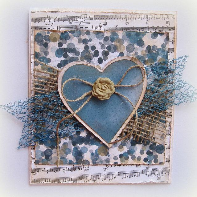 Blue Heart Card - Designs By Dawn Rene
