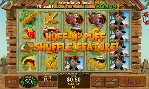 free Piggies and the Wolf huff and puff feature