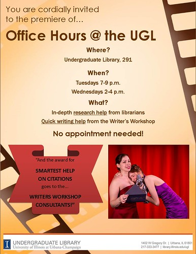 Flyer for Office Hours