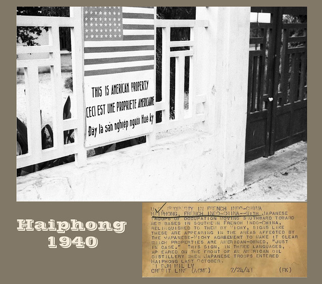 HAIPHONG 1940 - U.S. PROPERTY IN FRENCH INDO-CHINA
