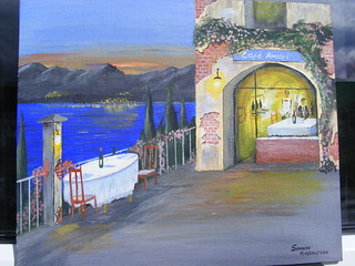 Cafe Amalfi at dusk