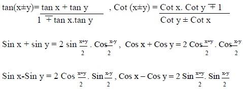 Tripura Board Class 11 Syllabus -Mathematics