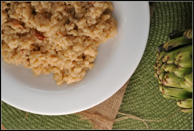 Beer, Cheddar, and Bacon Risotto 3