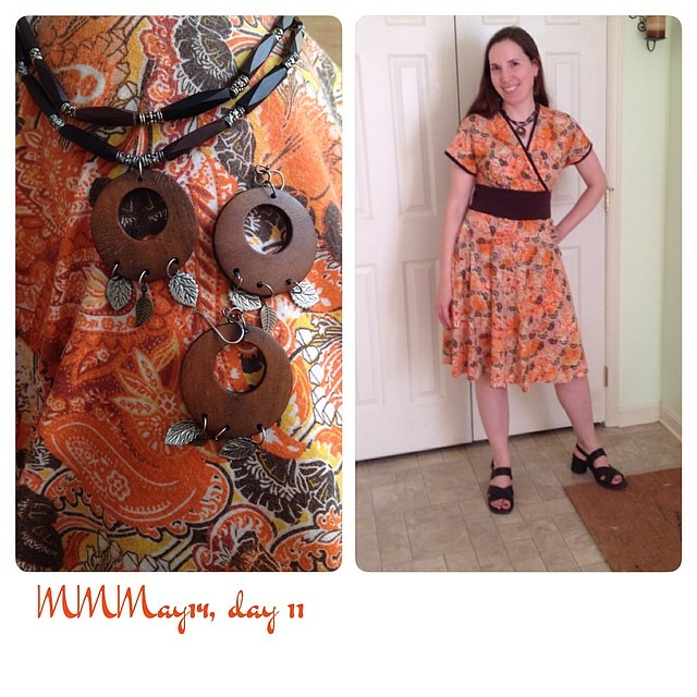 Me-mades: Cake Tiramisu dress, jewelry. #mmmay14