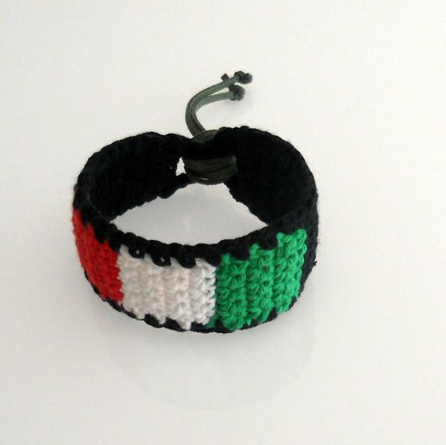 italia flag bracelet