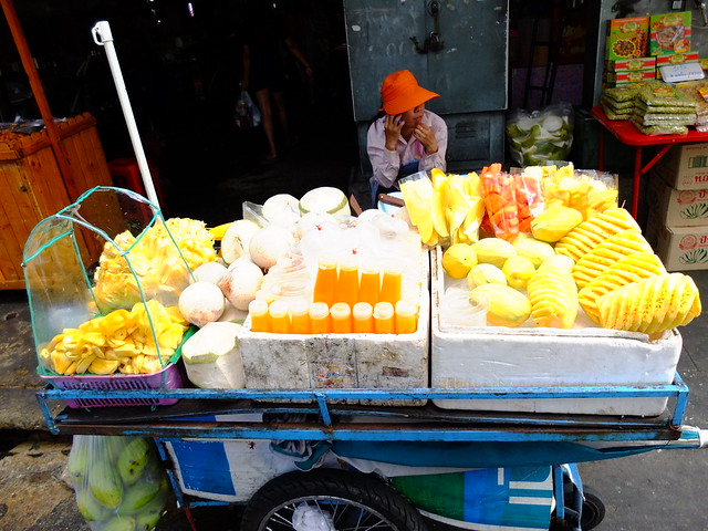 Fruit sellers, Bangkok, Thailand.