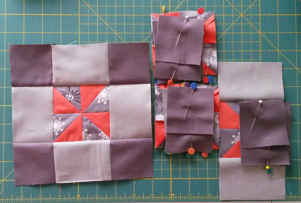 Corner blocks for mqg challenge quilt