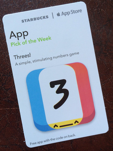Starbucks iTunes Pick of the Week - Threes!