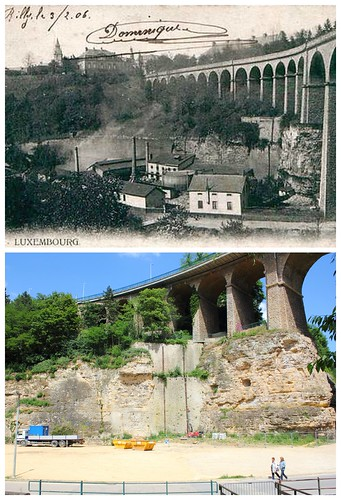 Luxembourg Viaduct, then and now