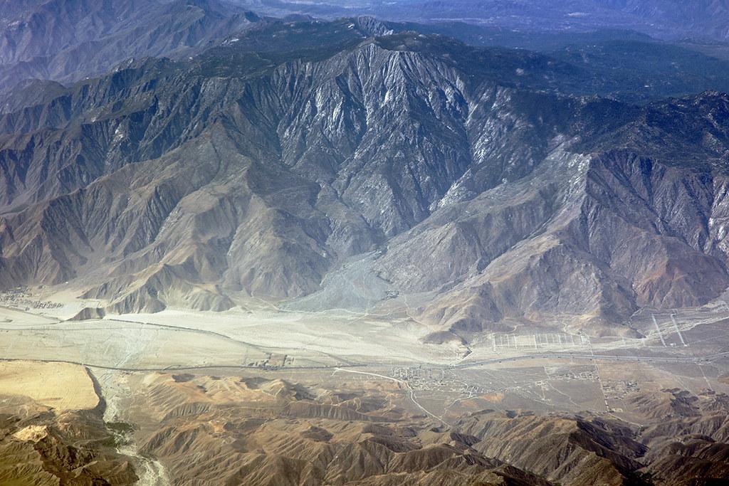 Aerial view of Mount San Jacinto, Riverside County, California
