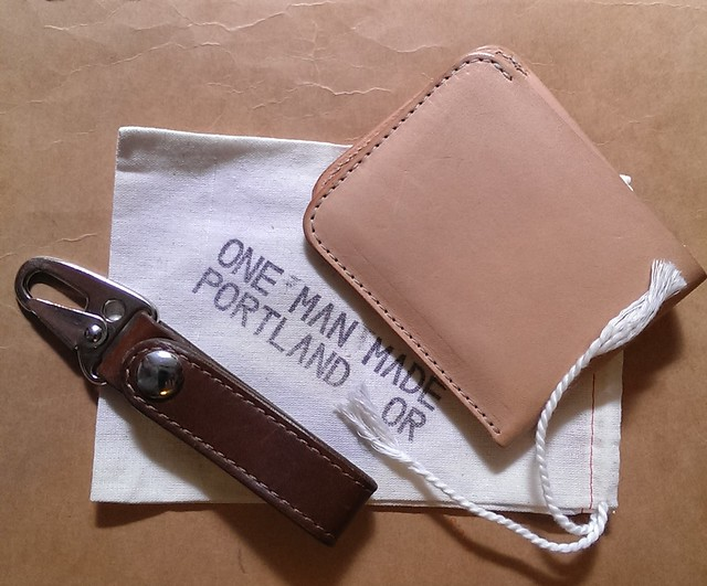 One Man Made Wallet and Key Fob