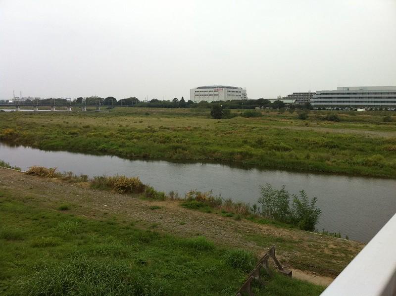 立川付近の多摩川