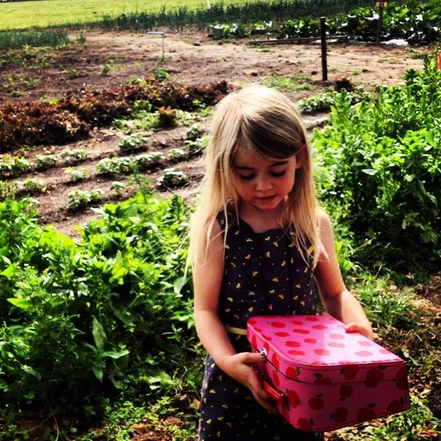 Dag 1: boerderij. Ze komt terug met een valies vol spinazie. #67daysofsummer