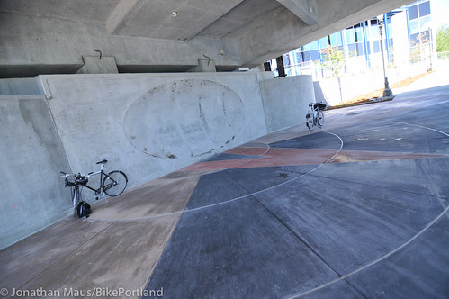 New Eastbank path under Tilikum Bridge -8