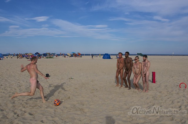 naturist football 0000 Sandy Hook, NJ, USA