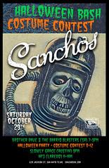 Sanchos Poster Halloween 2016 Space Skull