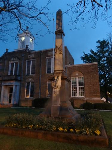chfstew arkansas arouachitacounty nationalregisterofhistoricplaces nrhpsouth veteransmemorial civilwar monumentstatue