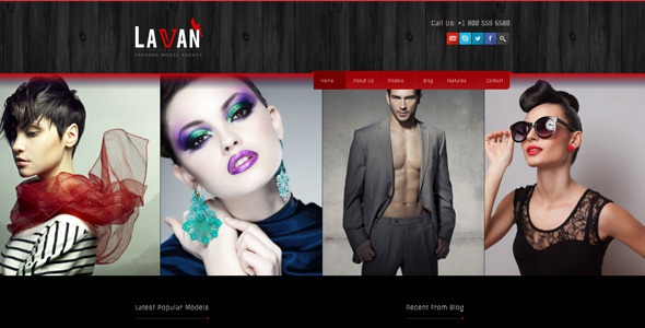 Lavan v3.3.5 – Fashion Model Agency WordPress CMS Theme
