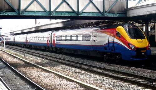 Class 222 021 'East Midland Trains' Meridian Diesel Multiple Unit on 'Dennis Basford's railsroadsrunways.blogspot.co.uk'