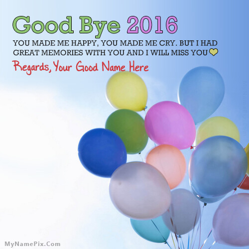 Goodbye 2016 Wish