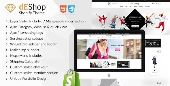 dEShop – Responsive Shopify Store Template