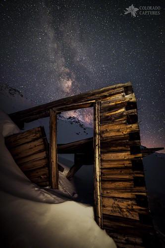 sky snow lightpainting mountains nature boston night dark colorado mine alpine openhouse meteor summitcounty milkyway coppermountain moonroof rusticcabin refrigeratorfreezer mayflowergulch bostonmine overnighthike
