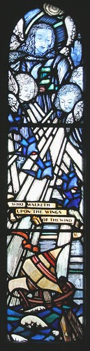 North Aisle cloister window - detail - late 1920s