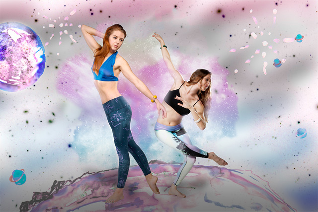 2 teeki northern lights hot pants my fair vanity yoga made in USA ecofashion blog rachel mlinarchik
