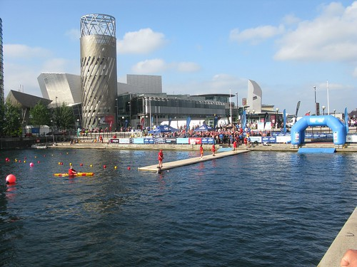 Aidan & Mike compete in The Great Manchester Swim