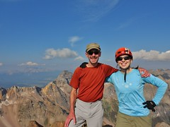 Jeff and Clare Stand Victorious on Mount Sneffels