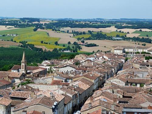 Panorámica de Lectoure desde la torre de la Catedral (Gers, Francia)