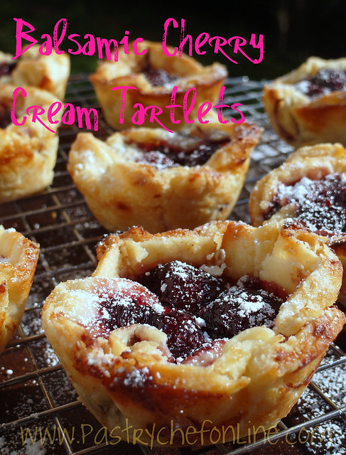 Balsamic Cherry Cream Tartlets