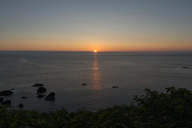 礼文島 桃岩荘から見た日没