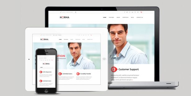 NORMA | Clean & Responsive WordPress Theme