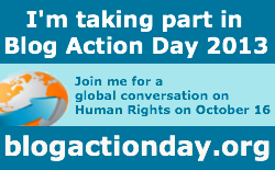 Join me and take part in Blog Action Day Oct 16 2013