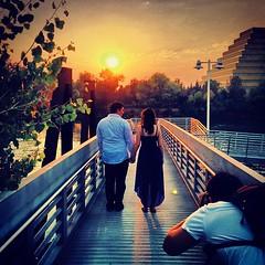 Beautiful sunset for a beautiful couple. @mycorgi should be proud. Photo credit @danielpatrick thanks today!