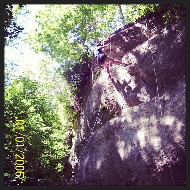 On rappel! Practicing before the Thunder Rolls 24hr adventure race. #adventureracing #rappel #ymcacampbenson #ropes