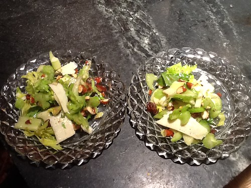 Celery salad with dates, almonds and Parmesan Jody