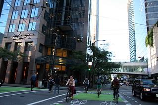 bikers crossing