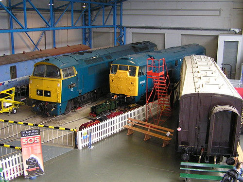 Class 52 D1023 'Western Fusilier' & Class 31 Brush type 2 31018, NRM York 30.06.2009 P6300147