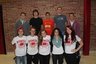Back row from left: Ryan Warren, Mitchell Hess, Brandon Leboida, Steven Kresmary, and James Licavoli. Front row from left: Karly Rapp, Lindsey Lorence, Ariana Compo, Olivia Cali, and Olivia Collier of the Senior Homecoming Court.