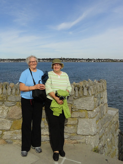 Janet and Marilyn on the Cliff Walk
