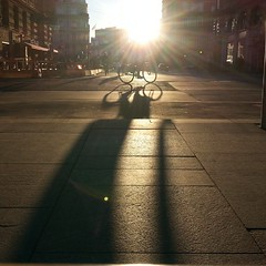 Looooong cyclist shadow in the Nordic light #shadow #copenhagen