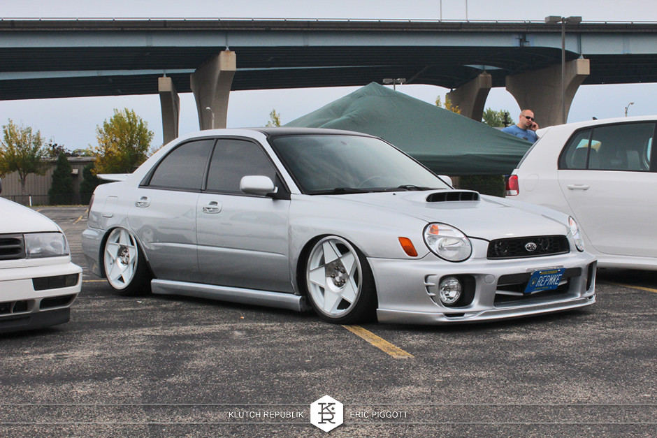 silver subaru wrx sti bug eye 0.005 3sdms dubs downtown 2013 slammed dropped dumped bagged static coilovers hella flush stanced stance fitment low lowered lowest camber wheels tucked 16s 17s 18s 19s 20s 3piece 1 piece custom airbags scene scenester