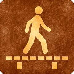 Sepia Grunge Sign - Walk on Boardwalk