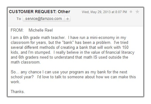 Can I use your program as my bank for the next school year?
