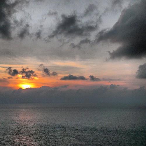 ocean travel sunset sea sky cloud clouds square landscape colombia outdoor squareformat caribbean cartagena cloudscape iphoneography instagramapp uploaded:by=instagram foursquare:venue=4f0866f1e4b0e8ed377b7eda