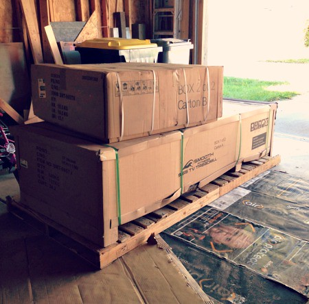 boxed up smooth treadmill