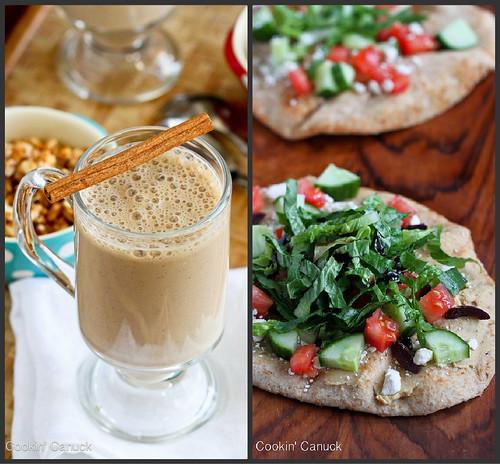 Coffee Smoothie & Greek Hummus Naan | cookincanuck.com